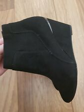 New *Next* (Size 3.5) Lovely Black Suede Wedge Heel Ankle Boots EU 36