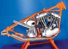 Paughco Chrome Up Sweep Drag Exhaust Header Pipes Harley Generator Shovelhead