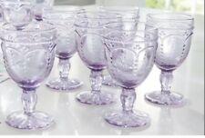 Princess House Marbella Lilac Glasses Set Of 4 New In Box!