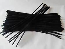 100 chenille noir coloré Craft tuyau Nettoyeurs 30cm x 4 mm..12 inch ct4067
