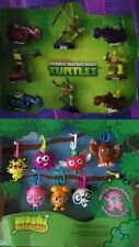 Teenage mutant ninja turtles moshi monsters mcdonalds toys full set with display
