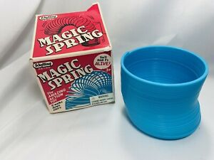Schylling Retro Magic Blue Plastic Spring Slinky Toy -Walks Down Stairs