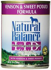 Natural Balance Canned Dog Food, Grain Free Limited Ingredient Diet Venison and