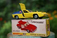 Dinky Toys Lotus Europa  Vintage styled Reproduction Box ONLY Number 218