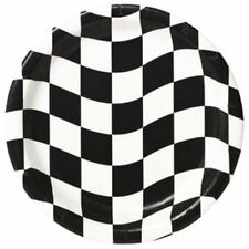 Checkered Flag Dessert Plates