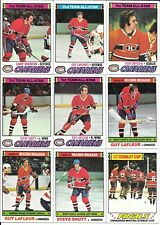Lot (69) 77-78 Topps Hockey Montreal Canadiens Cards Lafleur Dryden Shutt