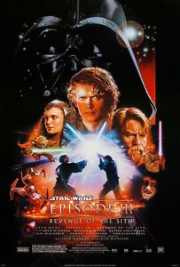 STAR WARS: REVENGE OF THE SITH (2005) ORIGINAL MOVIE POSTER  - ROLLED  - 2-SIDED