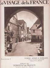 """PHOTO original """"visage de la france"""" environ 1920 17 cm x 23 cm RIQUEWIHR 2"""