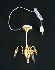 VIntage 3 Bulb Chandelier CIR-KIT Dollhouse Miniature