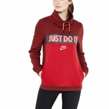 NIKE Womens Red GX Funnel Hood OTH Just Do It Sweater Hoodie Top Small 10 BNWT