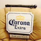Corona beer tin metal 2 sided pub sign wood