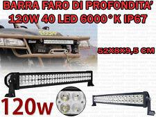 FARO DI PROFONDITA' BARRA 40 LED DA 3W IP 67 6000K AUTO FUORISTRADA BARCHE 120W
