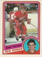 STEVE YZERMAN 1984-1985 ROOKIE O PEE CHEE HOCKEY CARD #67 RED WINGS