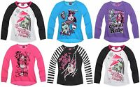 Girls NWT OFFICIAL LICENSED MONSTER HIGH TOP TSHIRT 7 8 9 10 11 12 13 14 LATEST