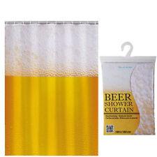 Novedad Divertido Baño Cortina de Ducha & Anillos 180 X 180cm-cerveza