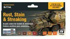 Vallejo VLJ-70183 Rust, Stain & Streaking Model Color Paint Set (8 Colors)