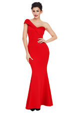 Women Evening Gown Mermaid Maxi Party Long One Shoulder Cocktail Prom Dress