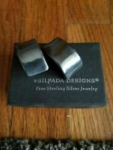 Silpada Sterling Silver 925 Electroform Earrings Clip Post Pierced P0906 RARE