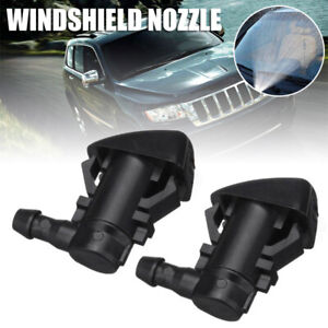 2pcs Windshield Wiper Spray  Washer Nozzle fit for 05-2018 Jeep Grand Cherokee