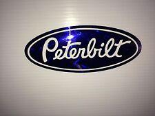3 Peterbilt  Blue diamond plate Vinyl decals  Hood & Grille Decal Emblems