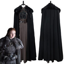2019 Game of thrones Season 8 Sansa Stark Cosplay Costume Outfit Cape Full Set