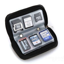 Memory Card Storage Wallet Case Organizer Bag Holder SD Micro 22 Slots Camera BK
