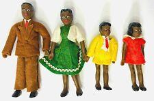 Vintage Flagg Dollhouse Dolls African American Black Family Rare