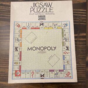 "Vintage 1970 MONOPOLY Jigsaw Puzzle Parker Brothers 21""x21"" 625 Pieces COMPLETE"