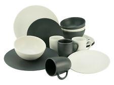 Soft Touch Black & White 16tlg seidenmatt 4 Personen Creatable 23147