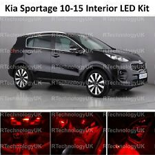 RED PREMIUM KIA SPORTAGE 3 SL 2010-2015 INTERIOR FULL LED BULBS LIGHT KIT SET