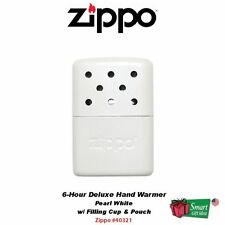 Zippo Hand Warmer, Pearl White, 6-Hour, with Filling Cup & Bag #40322