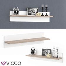 Vicco Regal Emma 80 cm - Wandpaneel Hängeregal Wandregal Dekoregal weiß Sonoma