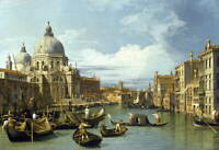 Canaletto The Entrance to the Grand Canal Poster Giclee Canvas Print