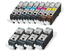 12 Pack PGI-220 CLI-221 Ink Cartridges for Canon PIXMA MP560 MP620 MP640 Printer