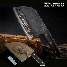 CLAD STEEL CUTTING SHARP Handmade Forged Chef Kitchen Knife Meat Cleaver Slicing