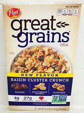 Great Grains Raisin Cluster Crunch Cereal 16.5 oz Post