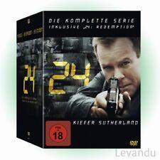"""DVD-Box 24 - DIE KOMPLETTE SERIE (Staffel 1-8) + """"24 Redemption"""" - 49 DVD's NEU"""