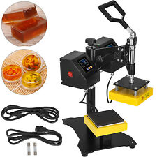 "5""x5"" Rosin Heat Press Dual Manual Element Heating High Pressure LCD Display"