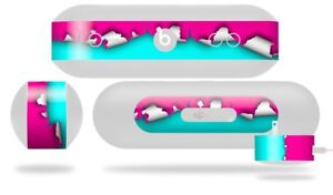 Skin for Beats Pill Plus Ripped Colors Hot Pink Neon Teal Decal Wrap