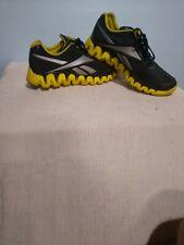 Men's Reebok Zigtech Zig Tech Black & Yellow Running Gym Shoes Size 12