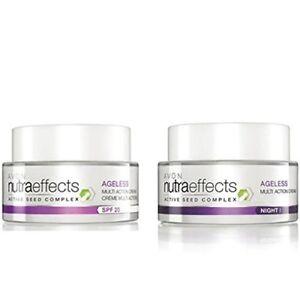 Avon Nutra Effects Ageless Day Cream + Night Cream (50 gm each) free shipping