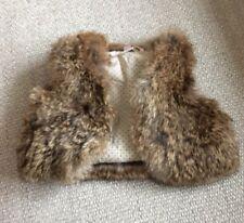 Bonpoint Toddler Girl's Real Rabbit Fur Vest Size 1 / 0-3 Months