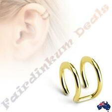 316L Surgical Steel Gold Ion Plated Double Closure Cartilage Ring