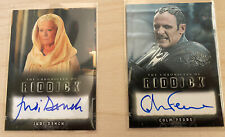 2 Autograph Cards Chronicles Of Riddick Judi Dench Aereon Colm Feore Marshal