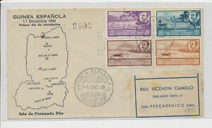 LM91020 Spain 1949 Guinea views landscapes FDC used