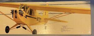 Vintage Carl Goldberg Anniversity Edition Piper Cub Model Airplane RC Kit NIB