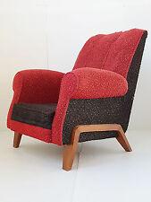 Superb Armchair Club 1950 Wool & oak Vintage Years 50 Rockabilly 50'S