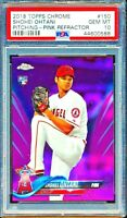 1 of 2018 Topps Chrome Shohei Ohtani Pitching RC #150 PINK REFRACTOR PSA 10!