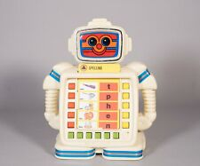 80's Playskool Alphie Ii Robot Children Kids Learning Toy Games Spelling Card