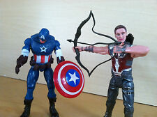 2 PC 6 inch The Avengers Hawk-Eye and Captain America Action Figures